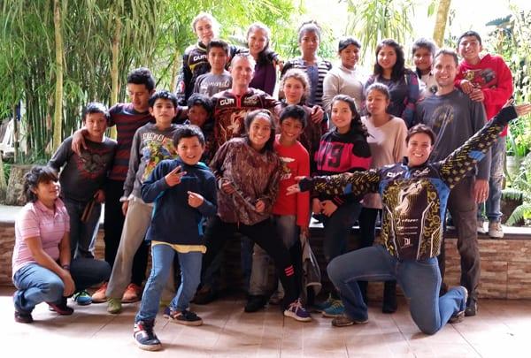 Paintball wiht the children from Fundaninos