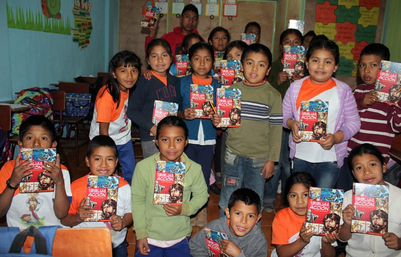 Action Bibles for Students in Guatemala