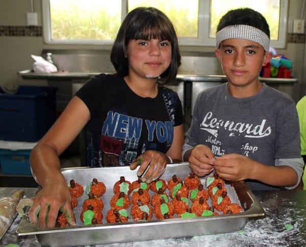 Cooking classes at the vacation camp at fundaninos