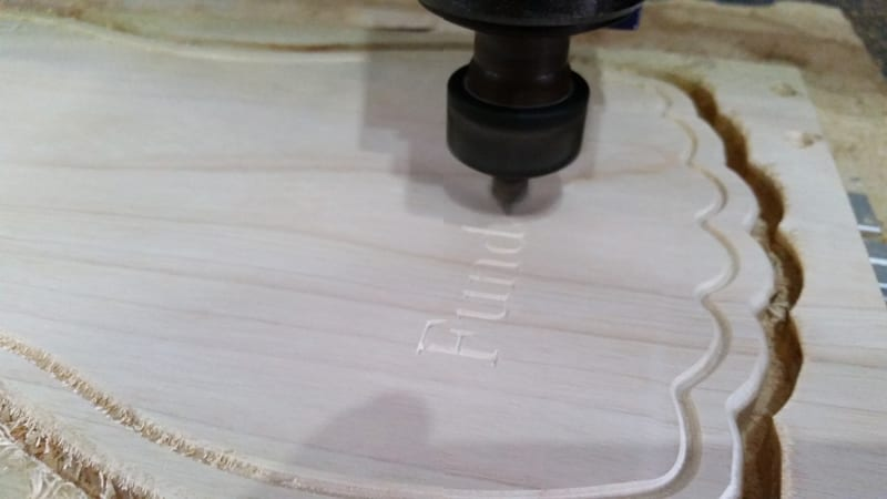 Cutting custom cutting boards on our Shopbot CNC router