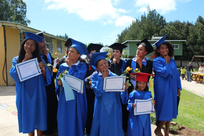 Graduation of students at the orphanage fundaninos
