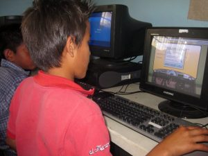 Chupete in typing class